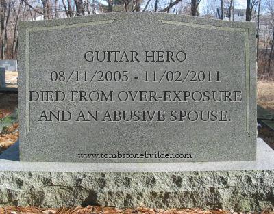 Guitar Hero Grave