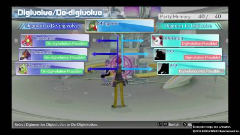 A screenshot from Digimon: Cyber Sleuth