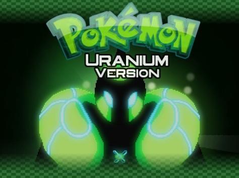 The title screen for Pokemon Uranium