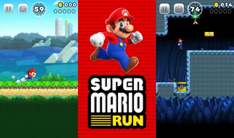 Super Mario Run gameplay.