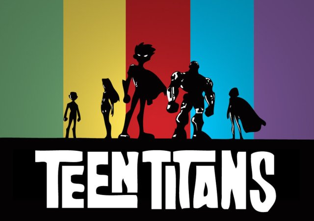 An image from the intro sequence of Cartoon Network's original Teen Titans series.