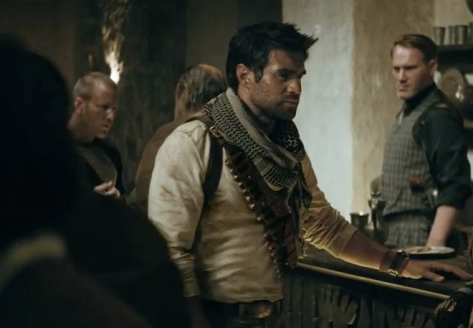 "An image of the Playstation ""Micheal"" commercial, featuring the actor who play Nathan Drake."