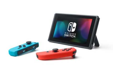 The Nintendo Switch Joy-Con Controllers in red and blue.
