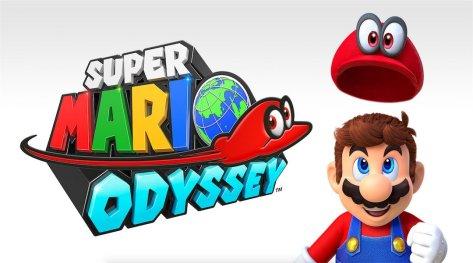 The logo for Super Mario Odyssesy