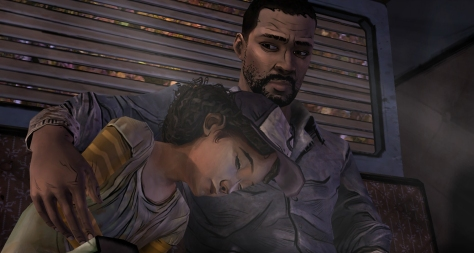 Lee and Clementine. Black protagonist from The Walking Dead video game.