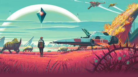 No Man's Sky header, a video game whose pricing did not match it's quality.