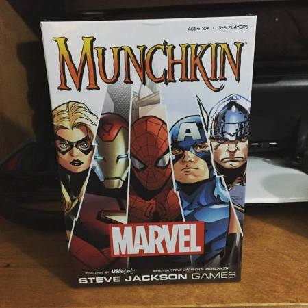 Marvel Munchkin, a spinoff of the classic game.