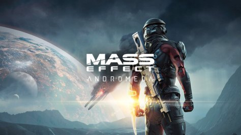 A banner for Mass Effect Andromeda.
