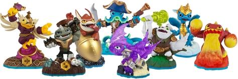 Skylanders toys.